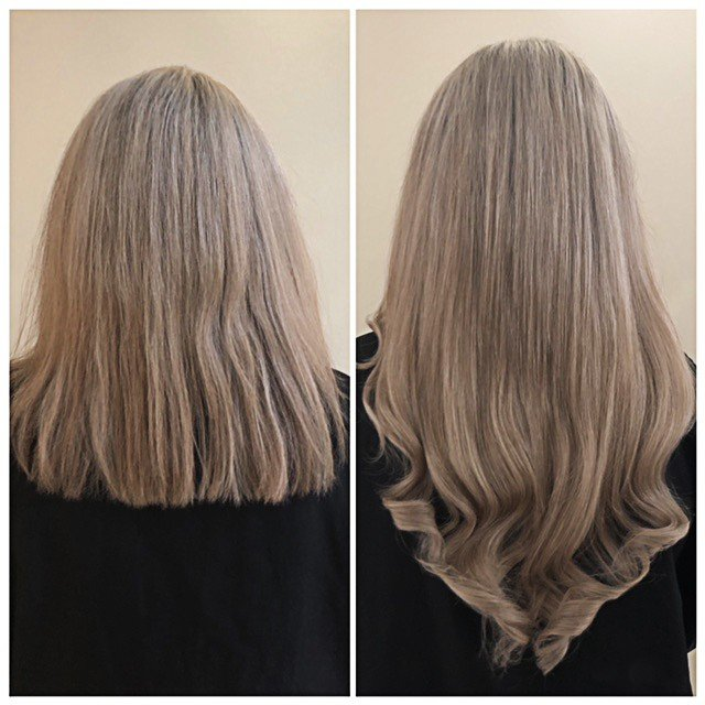 Blonde extensions added for length and thickness