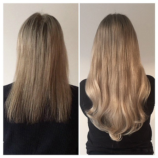 Blonde added length and thickness extensions